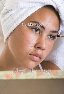 studio makeup one Stock Photo