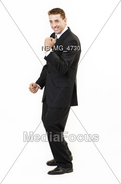 enthousiastic professionals expression Stock Photo
