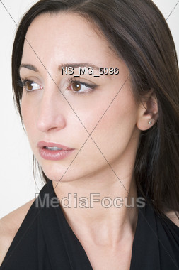 face makeup indoors Stock Photo