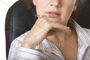 professionals expression manager Stock Photo