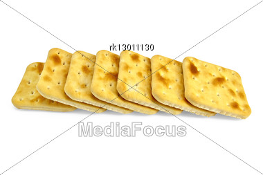 Number Of Golden Biscuits Isolated Stock Photo
