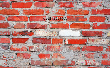 Obsolete Brick Wall Texture Pattern Stock Photo