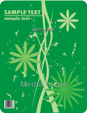 Obsolete Floral Vector Design Of Bended Stripes With Barcode Stock Photo