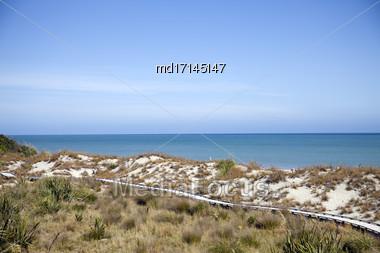 Ocean View New Zealand South Island West Coast Stock Photo