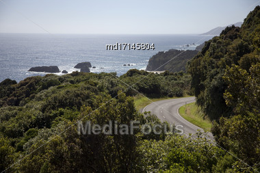 Ocean View New Zealand South Island West Coast Stock Photo