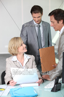 Office Discussion Stock Photo