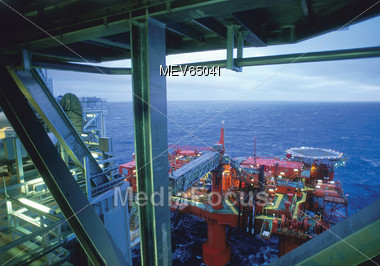 Oil Drilling Platforms Stock Photo