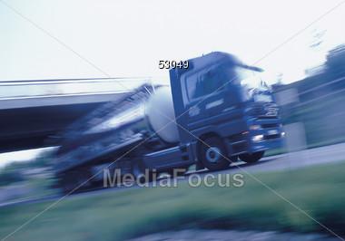 Oil Truck Stock Photo
