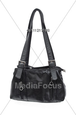 Old Black Bag Stock Photo