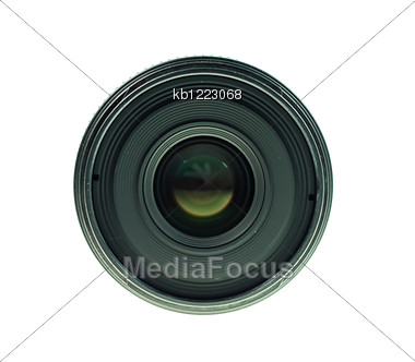 Old Black Lens Front View Of Lens Stock Photo