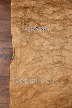 Old Brown Crumpled Paper For Background Stock Photo