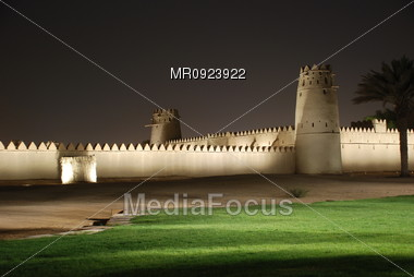 Old Castle at night Stock Photo
