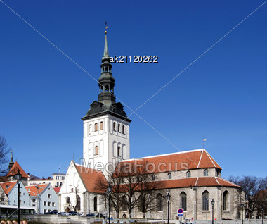Old Church Is Located In The Historical Center Tallinn Stock Photo