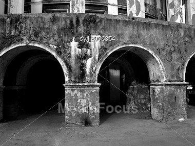 Old Destroyed Building Stock Photo