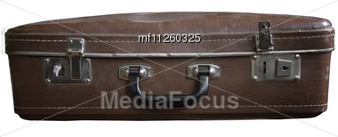 Old Dusty Retro Suitcase Stock Photo