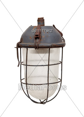 Old Electrical Lantern Stock Photo