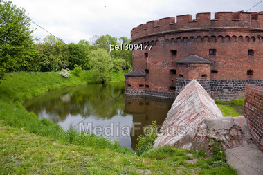 Old Fort In The City Of Kaliningrad Stock Photo