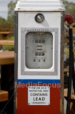 Old Gas Pumps Antique In New Zealand Stock Photo