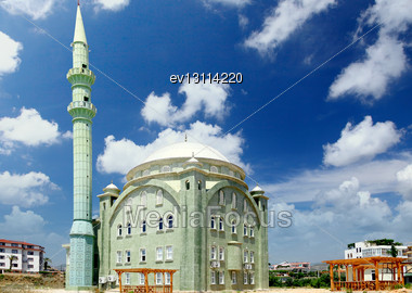 Old, Great Mosque In Turkey Stock Photo