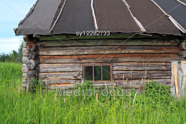 Old House In Abandoned Village Stock Photo