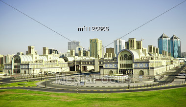 old market in Sharjah Stock Photo