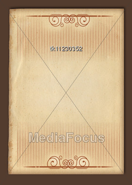 Old Paper Texture.Antique Background Scroll For Text On White Stock Photo