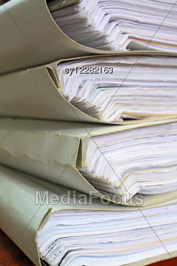 Old Papers Stock Photo