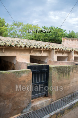 Old Pigsty. Part Of The Mediterranean Farm Stock Photo