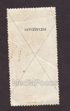 Old Postage Stamp Border On Black Stock Photo