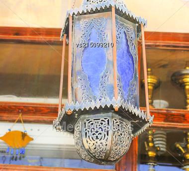 Old Street Lamp At Sun Light Stock Photo