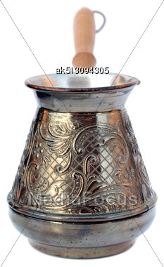 Old Style Coffee Pot Isolated Stock Photo