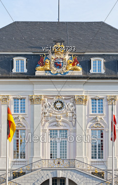 Old Town Hall In The Center Of Bonn, Germany Stock Photo