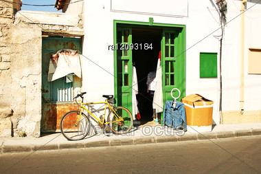 Old Town Shop In Limassol, Cyprus. Stock Photo