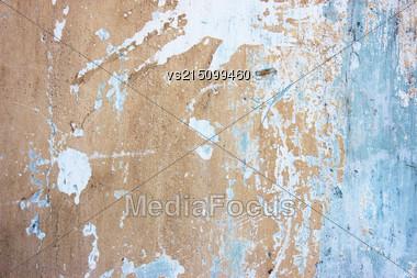 Old Wall Stucco Texture At Sun Light Stock Photo
