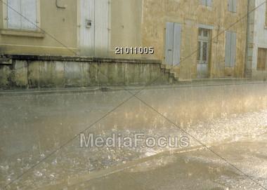 Old Warehouse Loading Ramp Stock Photo