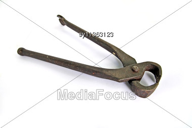 Old Wire Cutter Stock Photo
