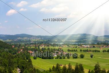 One Small Bavarian City Stock Photo