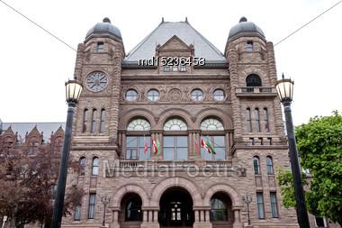 Ontario's Legislative Building Toronto Canada Downton Wellesley Street Stock Photo