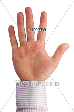 Open Human Palm Stock Photo