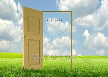 Opened Door Stock Photo