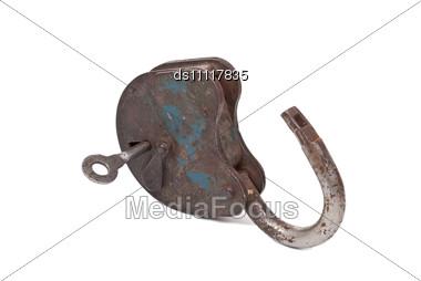 Opened Lock And Key Stock Photo