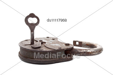 Opened Lock And Key Stock Photo