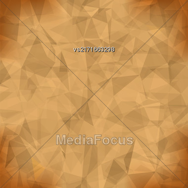 Orange Light Polygonal Mosaic Background. Business Design Templates. Triangular Geometric Pattern Stock Photo