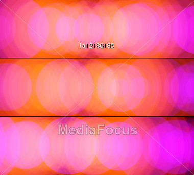 Orange-pink Abstact Banners Imitates Glare Beam Of Colored Spotlights Stock Photo