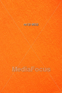 Orange Towel Texture As A Background. Stock Photo