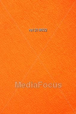 Orange Towel Texture As A Background. Stock Photo