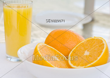 Oranges for Breakfast Stock Photo