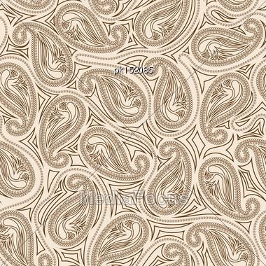 Oriental Paisley Seamless Pattern Stock Photo