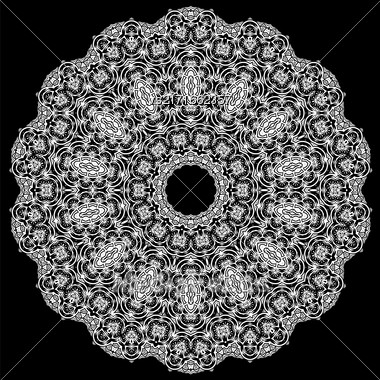 Ornamental Line Pattern. Decorative Texture. Oriental Geometric Ornament Stock Photo