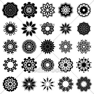Ornamental Line Pattern. Decorative Texture. Oriental Geometric Ornament Stock Photo